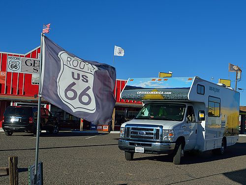 Camper an Route 66