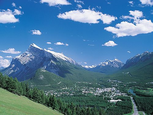 Berge im Banff Nationalpark