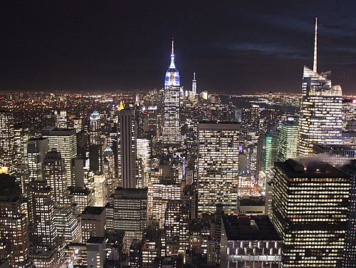 New York City bei Nacht