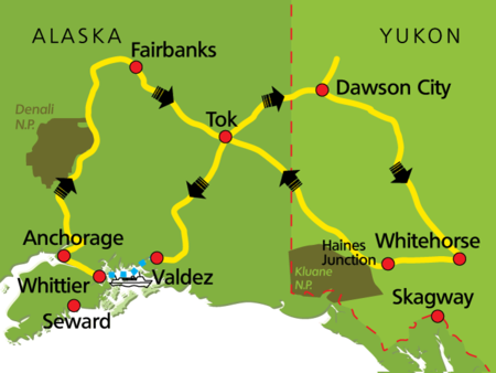 Routing Best of Yukon und Alaska